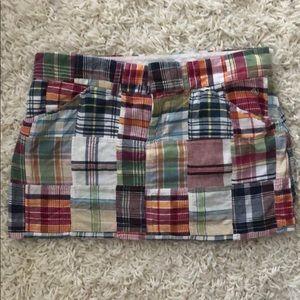Duck Head Jeans madras plaid mini skirt  skort